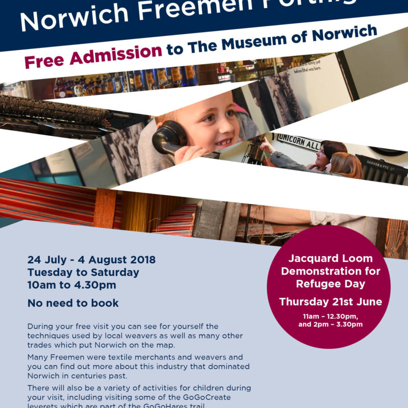 Freemen Free Admission for the Museum of Norwich and Strangers' hall